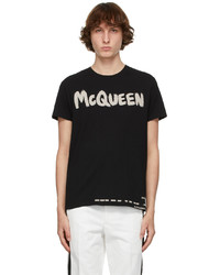 Alexander McQueen Black Graffiti T Shirt