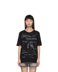 Saint Laurent Black Jacquard Graphic T Shirt