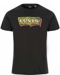 River Island Black Levis Graphic Print Crew Neck T Shirt