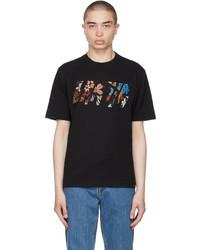 Lanvin Black Logo Appliqu T Shirt