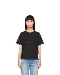 Saint Laurent Black Logo T Shirt