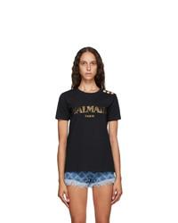 Balmain Black Logo T Shirt