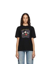 Saint Laurent Black Mickey Mouse T Shirt