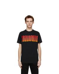 DSQUARED2 Black Multi Logo T Shirt