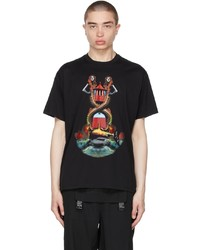 Burberry Black Oversized Mermaid Print T Shirt