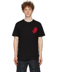 Alexander McQueen Black Painted Heart T Shirt