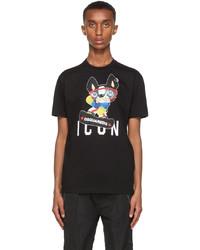DSQUARED2 Black Pug T Shirt