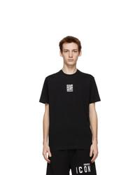 DSQUARED2 Black Qr Code T Shirt