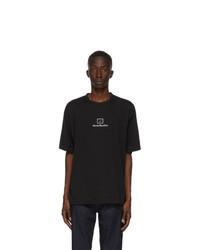 Acne Studios Black Reflective Patch Motif T Shirt