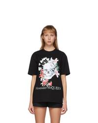 Alexander McQueen Black Romantic Skull T Shirt