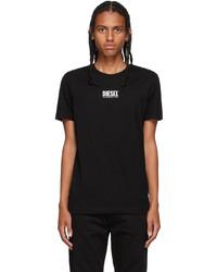 Diesel Black Rubber Logo T Shirt