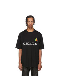 Christian Dada Black Signal Noise Print T Shirt