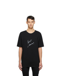 Saint Laurent Black Signature T Shirt
