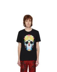 Alexander McQueen Black Skull T Shirt