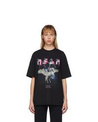 MSGM Black Space Unicorn Tour T Shirt