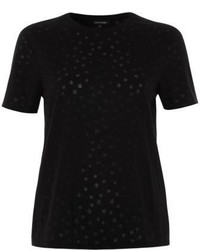 River Island Black Star Print Burnout T Shirt