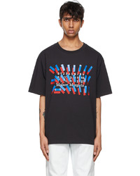 Maison Margiela Black Tape Print T Shirt