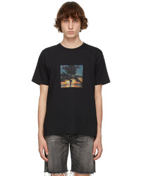Saint Laurent Black Vhs Sunset T Shirt