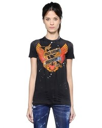 Dsquared2 Brothers Printed Cotton T Shirt