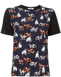 MSGM Cats Print T Shirt