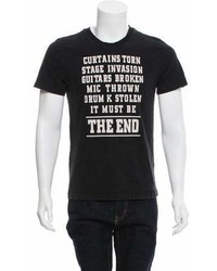Christian Dior Dior Homme The End Print Crew Neck T Shirt