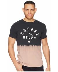 Scotch & Soda Dip Dyed Crew Neck Tee With Text Artwork T Shirt