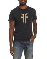 Frye Double F Logo Acid Wash T Shirt