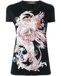 Roberto Cavalli Dragon Print T Shirt