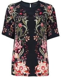 Roberto Cavalli Floral Print T Shirt