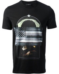 Givenchy Flag Collage Print T Shirt