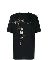 Haider Ackermann Gold Embroidered T Shirt