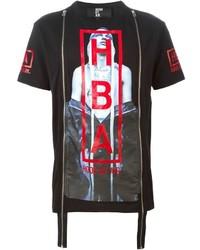 Hood by Air Zip Detail Printed T Shirt