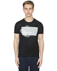 Emporio Armani Identity Printed Cotton Jersey T Shirt