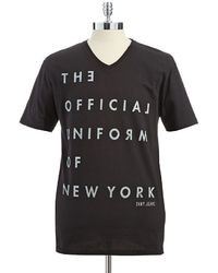 DKNY Jeans Graphic V Neck T Shirt