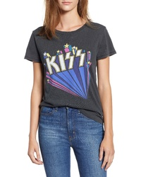 Lucky Brand Kiss Logo Graphic Tee