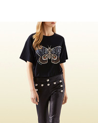 Gucci Kris Knight Butterfly Print T Shirt