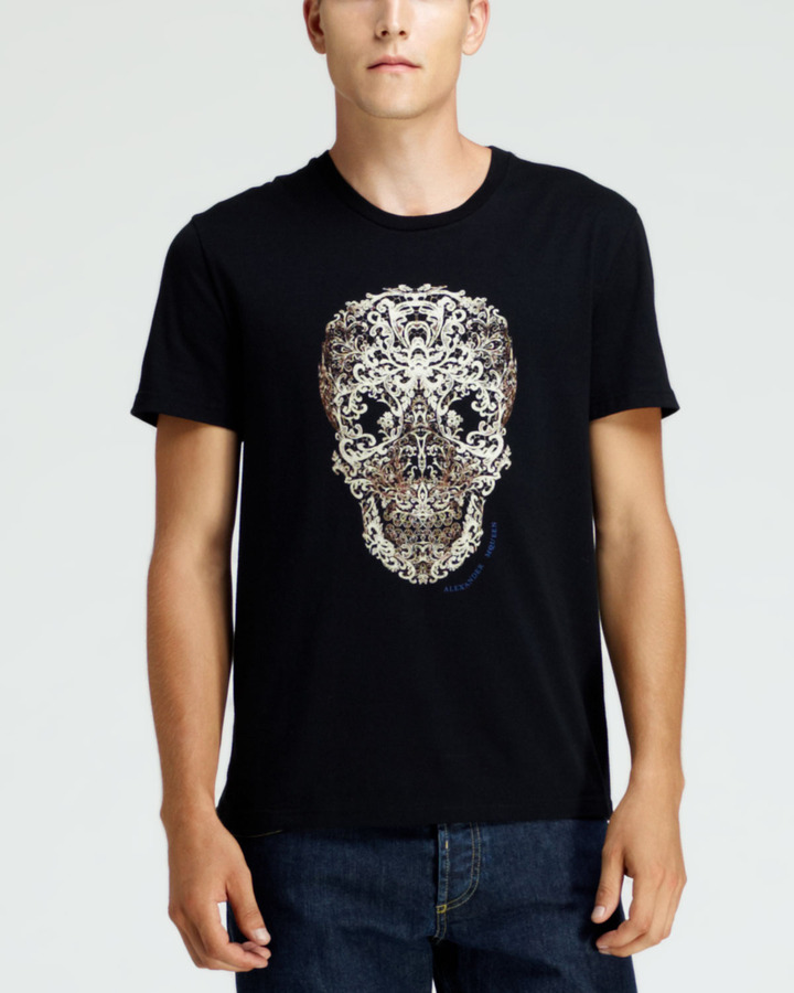 Outlet High Quality Sale 2018 skull-printed T-shirt - Black Alexander McQueen Cheap Sale 2018 Clearance Affordable Free Shipping Shop ZQPEmOF66