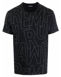 Emporio Armani Logo Print Cotton T Shirt