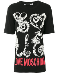 Love Moschino Logo Print T Shirt