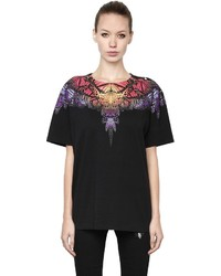 Marcelo Burlon County of Milan Butterfly Printed Cotton Jersey T Shirt