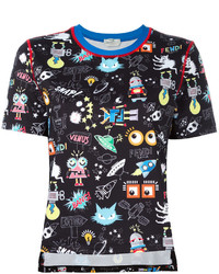 Fendi Monster Space Print T Shirt