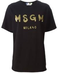 MSGM Printed T Shirt