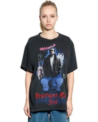 MM6 MAISON MARGIELA Mystery Man Print Cotton Jersey T Shirt