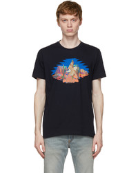 Etro Navy Graphic T Shirt