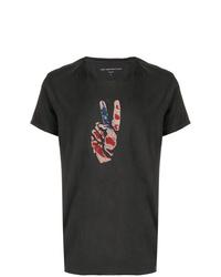 John Varvatos Painted Flag T Shirt