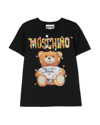 Moschino Printed Stretch Cotton Jersey T Shirt