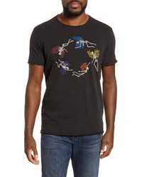 John Varvatos Star USA Raw Edge Graphic Crewneck T Shirt