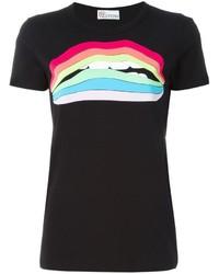 RED Valentino Rainbow Lip Print T Shirt