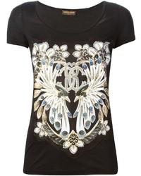 Roberto Cavalli Jewel Print Apliqu T Shirt