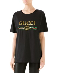 Gucci Sequin Tiger Logo Tee